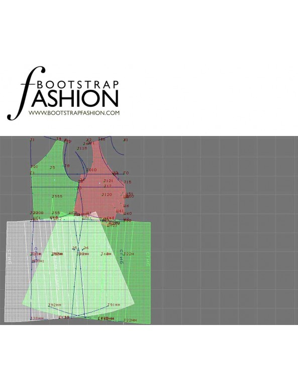 Fashion Designer Sewing Patterns - Flirty Flutter Cap Sleeves Dress