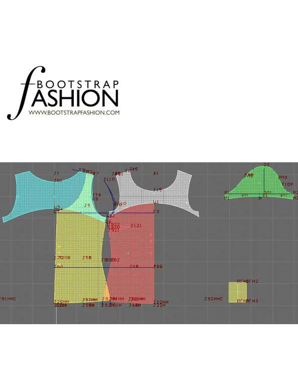 Fashion Designer Sewing Patterns - Knit T With Back Bow