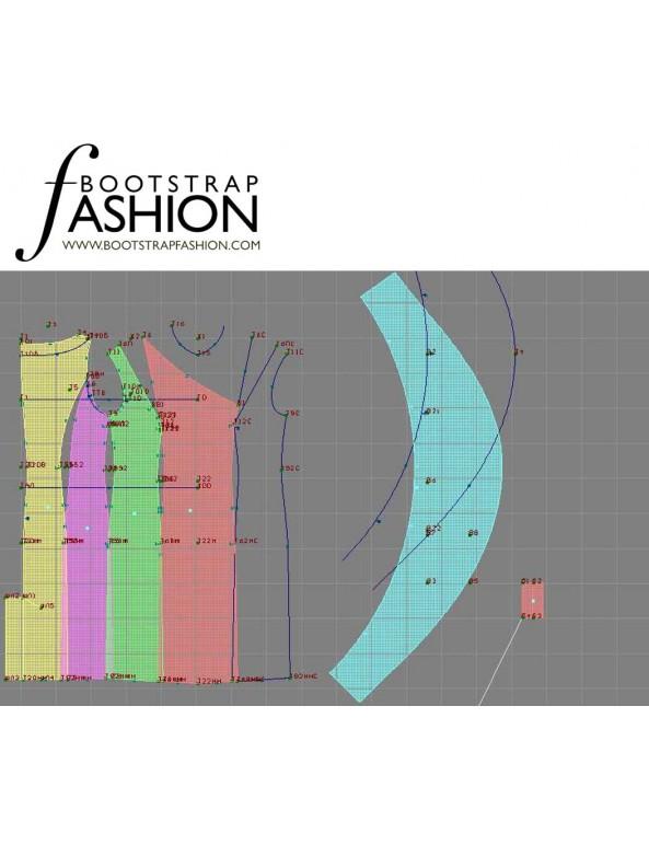 Fashion Designer Sewing Patterns - Asymmetrical Neckline Fitted Sheath