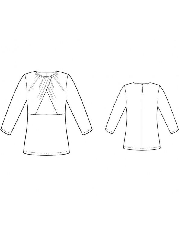 Fashion Designer Sewing Patterns - Draped Bodice Knit Top