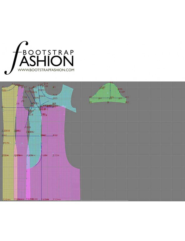 Fashion Designer Sewing Patterns - Front Slit Knit Dress