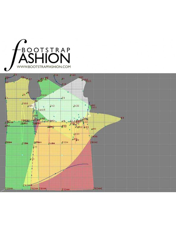 Fashion Designer Sewing Patterns - Surplice Dress With Draped Skirt