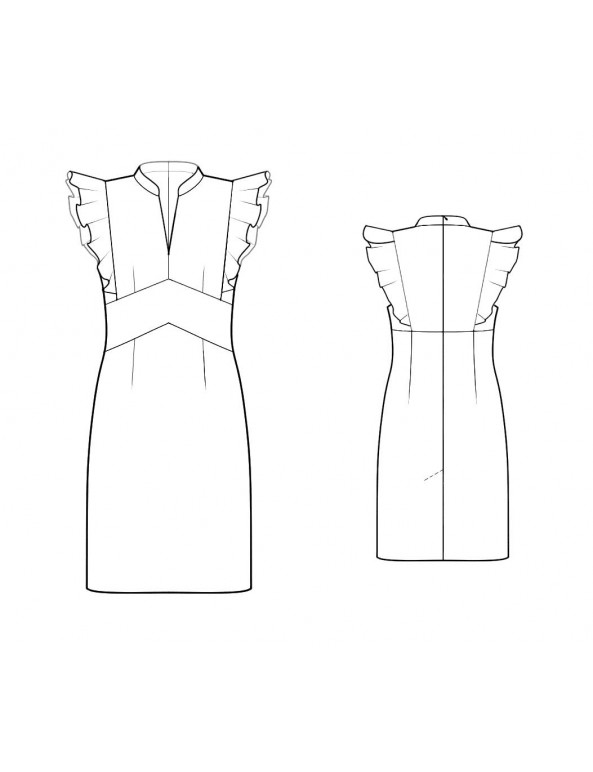 Fashion Designer Sewing Patterns - Flutter Cap Sleeve Dress