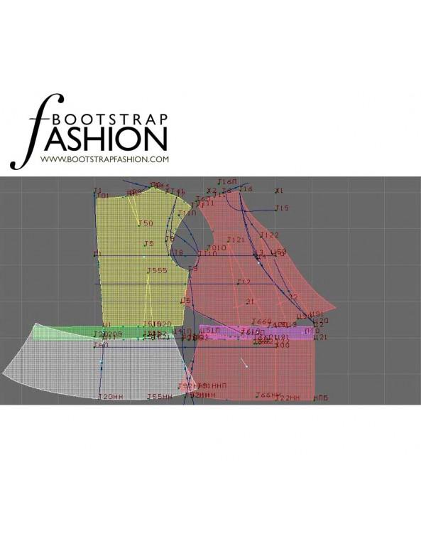 Fashion Designer Sewing Patterns - Capped-Sleeve V-Neck Jacket