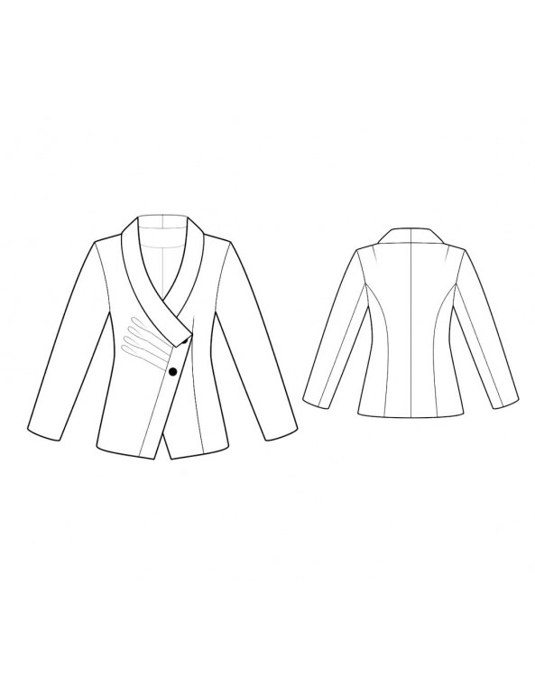 Fashion Designer Sewing Patterns - Tailored  Asymmetrical Jacket