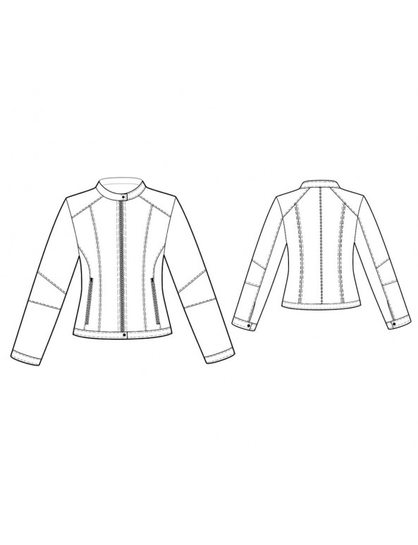 Fashion Designer Sewing Patterns - Multi Seamed Bicker Jacket