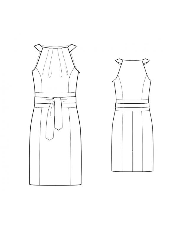 Fashion Designer Sewing Patterns - Obi Style Halter Dress