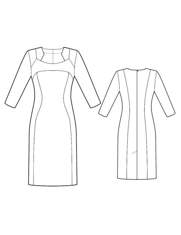 Fashion Designer Sewing Patterns - Color/Print Blocked Dress