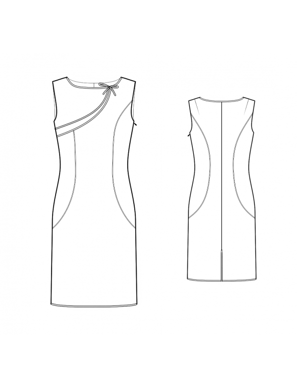 Fashion Designer Sewing Patterns - Asymmetrical Detail Sheath