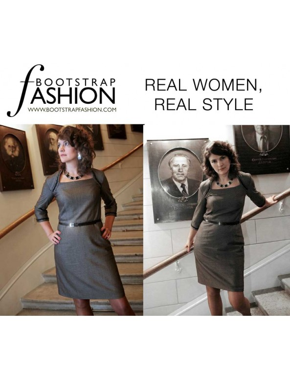 Fashion Designer Sewing Patterns - Faux Shrug Dress