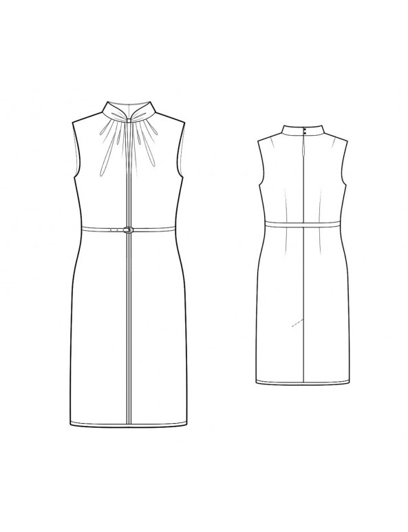 Fashion Designer Sewing Patterns - Draped Keyhole Fitted Dress