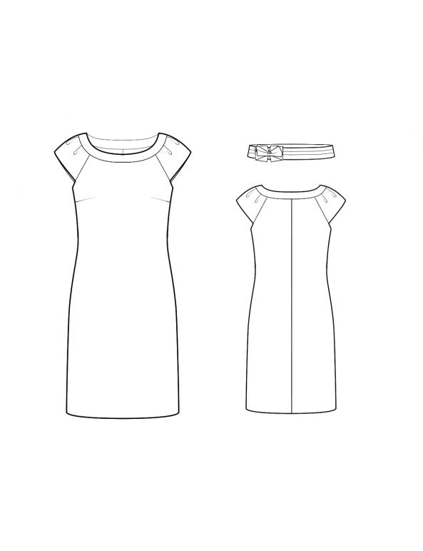 Fashion Designer Sewing Patterns - Boatneck Knit Dress
