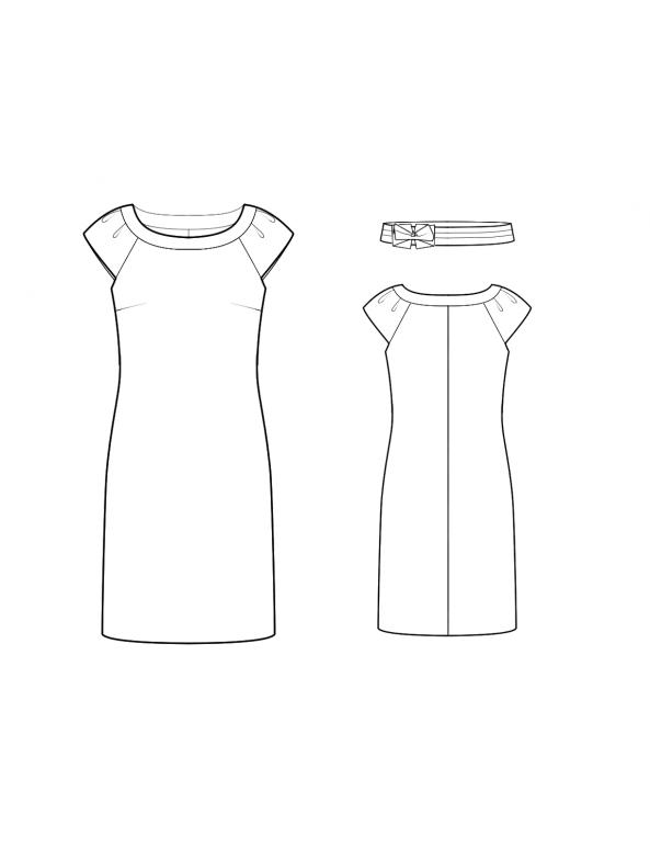 Fashion Designer Sewing Patterns - Boatneck Knit Dress