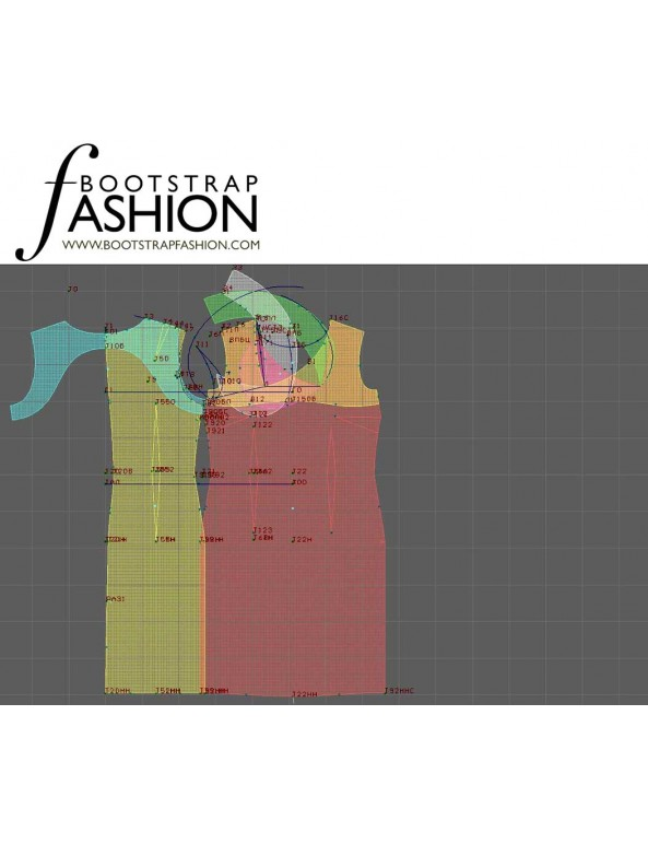 Fashion Designer Sewing Patterns - Origami Neckline Sheath