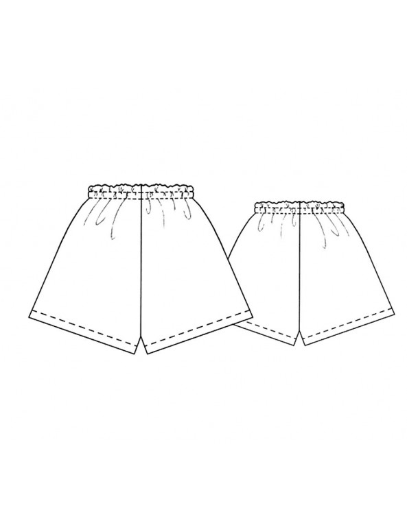 Fashion Designer Sewing Patterns - Satin Or Batiste Shorts