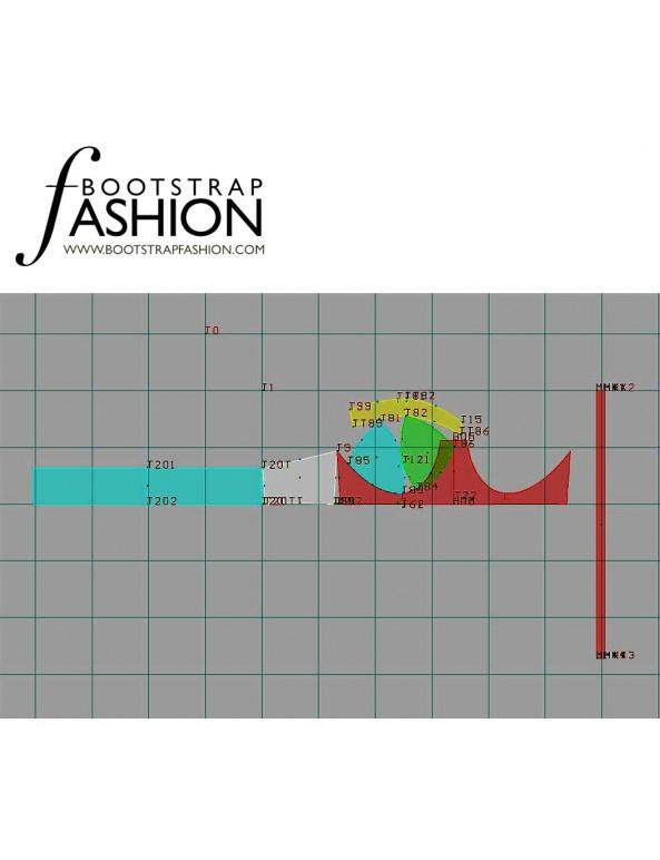 Fashion Designer Sewing Patterns - Swimwear Halter Bra