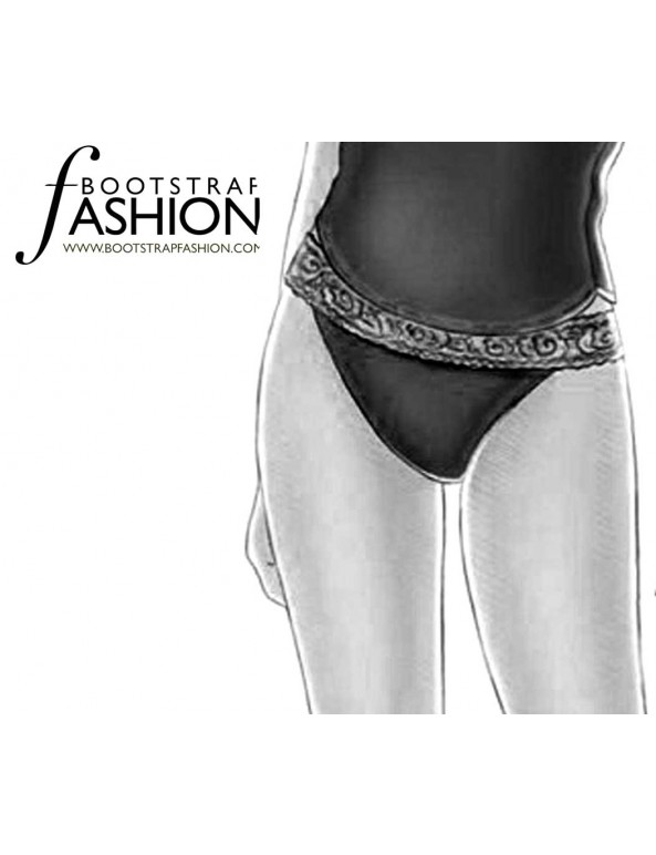 Fashion Designer Sewing Patterns - Lace Trimmed Thong
