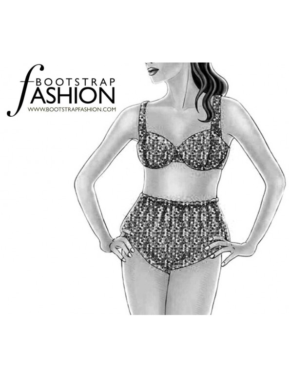 Fashion Designer Sewing Patterns - Vintage Style Bra