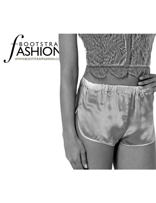 Fashion Designer Sewing Patterns - Vintage Style Lingerie Shorts