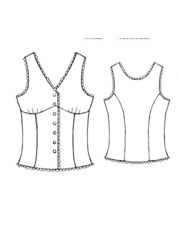 Fashion Designer Sewing Patterns - Pajama Top