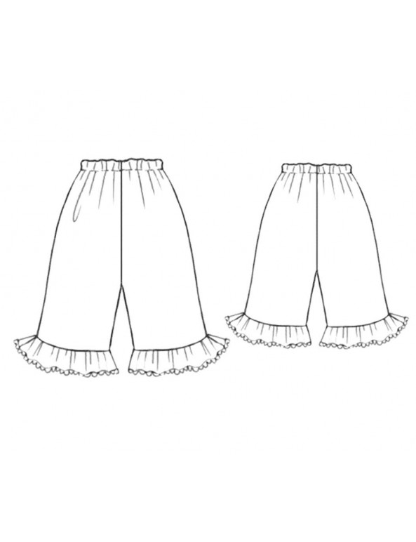 Fashion Designer Sewing Patterns - Pajama Bottoms With Ruffles
