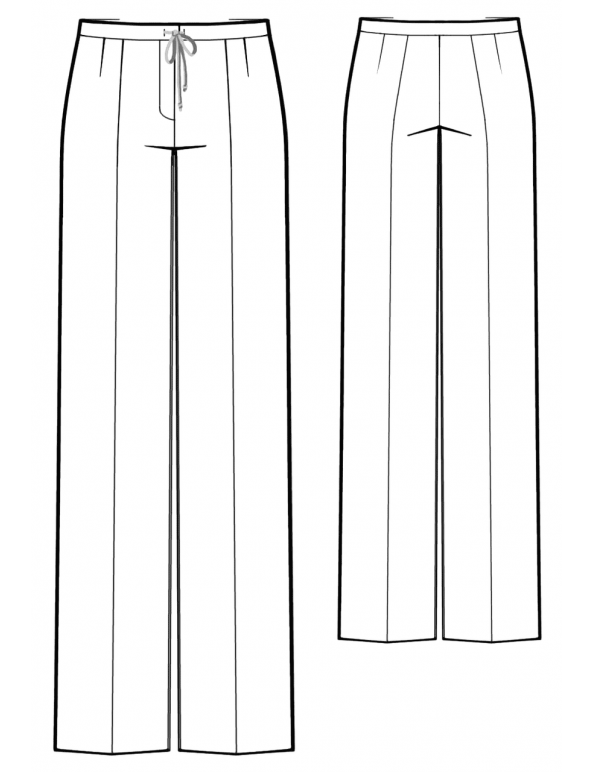 Fashion Designer Sewing Patterns - Straight Leg Drawstring Pants