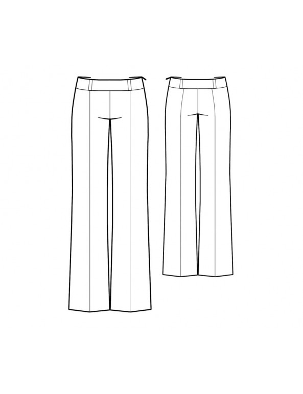 Fashion Designer Sewing Patterns - Clean Front Bootcut Trouser