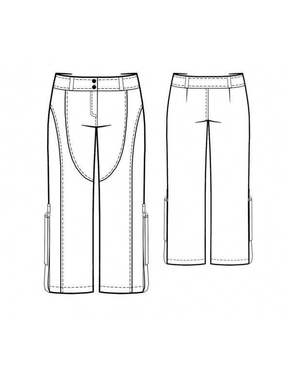 Fashion Designer Sewing Patterns - Cropped Multi-Seamed Cargo Pants