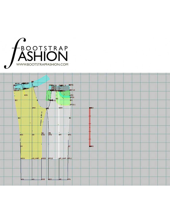 Fashion Designer Sewing Patterns - Front Seam Cropped Pants