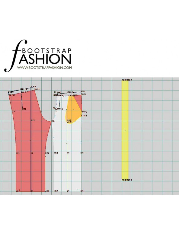 Fashion Designer Sewing Patterns - Drawstring Cropped Pants