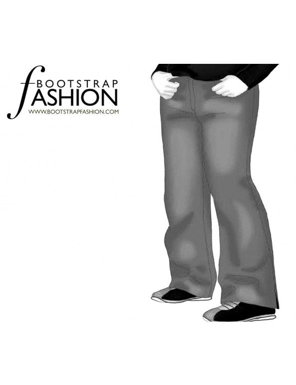 Fashion Designer Sewing Patterns - Straight Leg Trousers