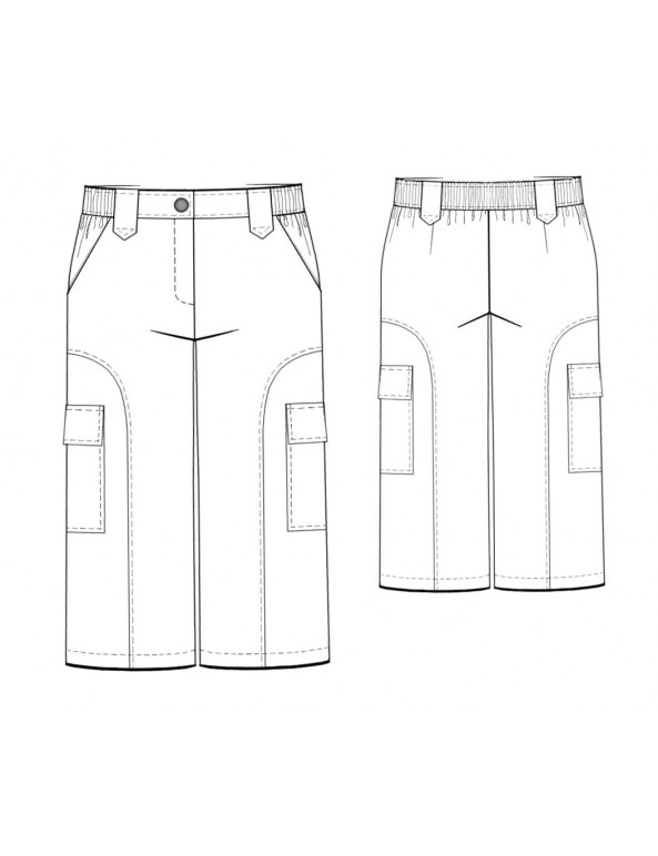 Fashion Designer Sewing Patterns - Cropped Cargo Pants
