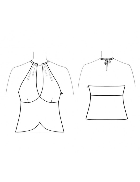 Fashion Designer Sewing Patterns - Cropped Peekaboo Halter Top