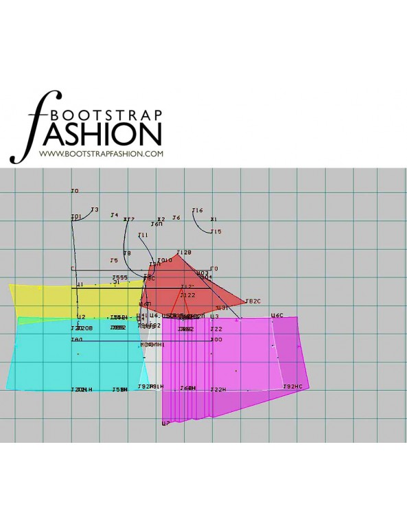 Fashion Designer Sewing Patterns - Asymmetrical Spaghetti-Strap Top