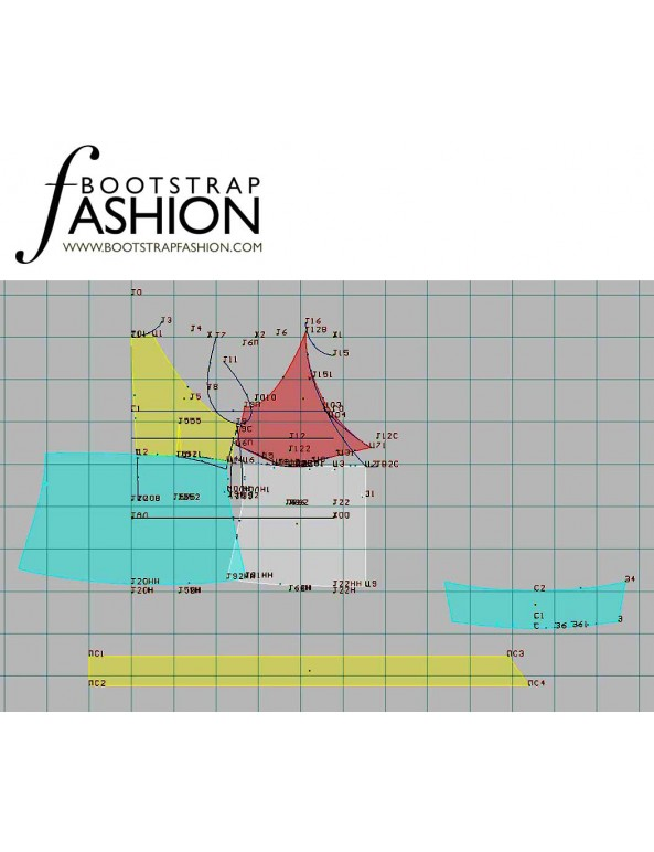 Fashion Designer Sewing Patterns - Tie-Front Halter Top with Collar