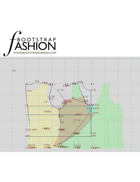 Fashion Designer Sewing Patterns - Spaghetti-Strap Top with Cross Back