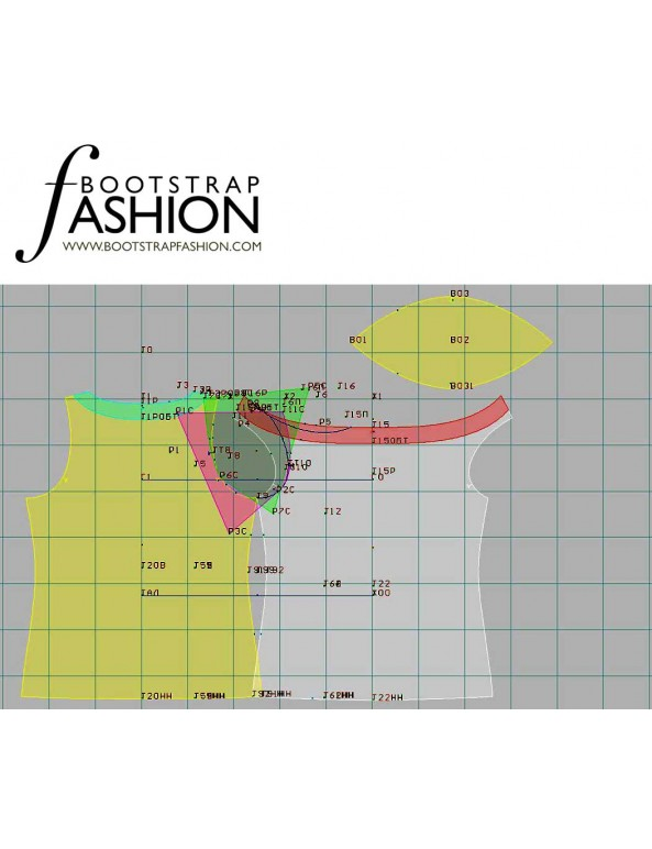 Fashion Designer Sewing Patterns - Cowl Neck Split Sleeve Top