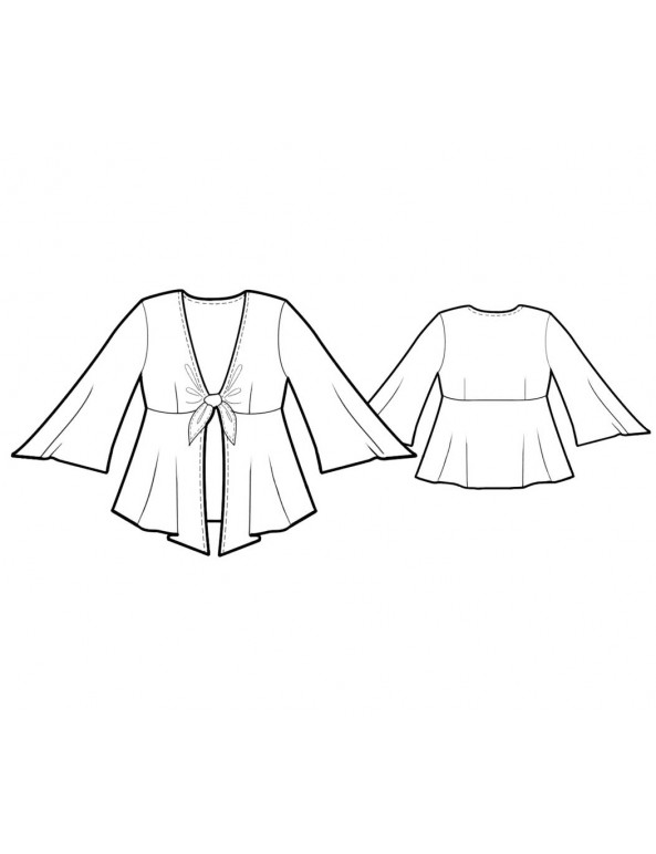 Fashion Designer Sewing Patterns - Tie Front Cardigan