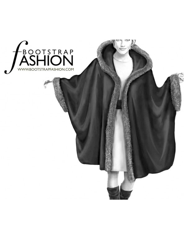 Fashion Designer Sewing Patterns - Fur Trimmed Cape