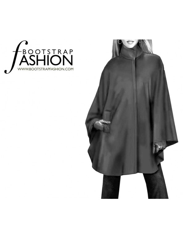 Fashion Designer Sewing Patterns - Cape With Pockets