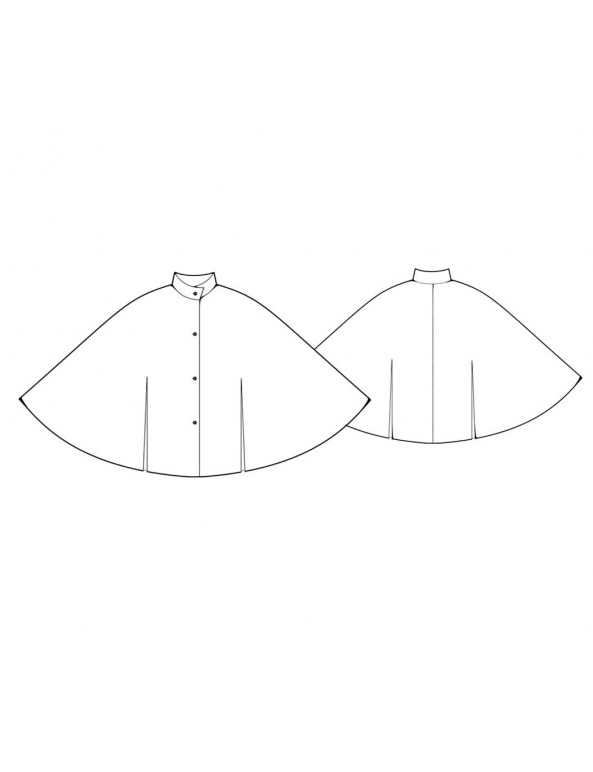Fashion Designer Sewing Patterns - Stand Collar Cape