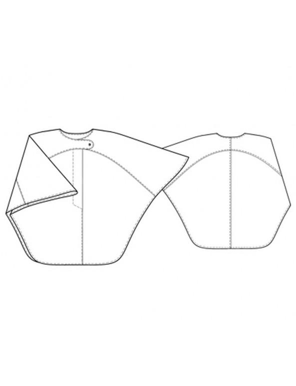 Fashion Designer Sewing Patterns - Asymmetrical Tab Cape