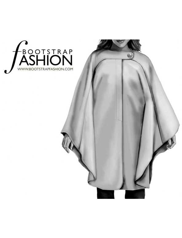 Fashion Designer Sewing Patterns - Asymmetrical Tab Cape