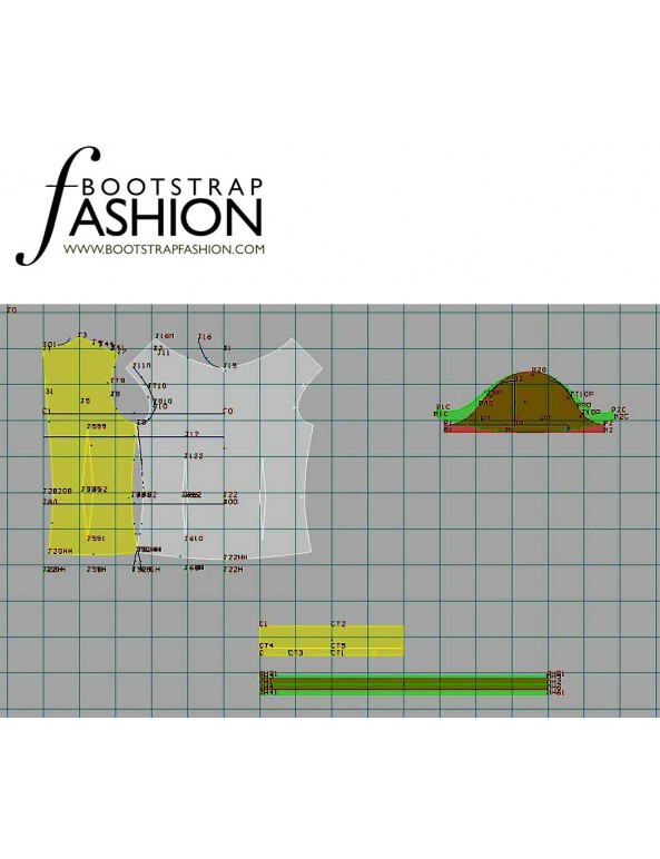 Fashion Designer Sewing Patterns - Puff Sleeve Turtleneck