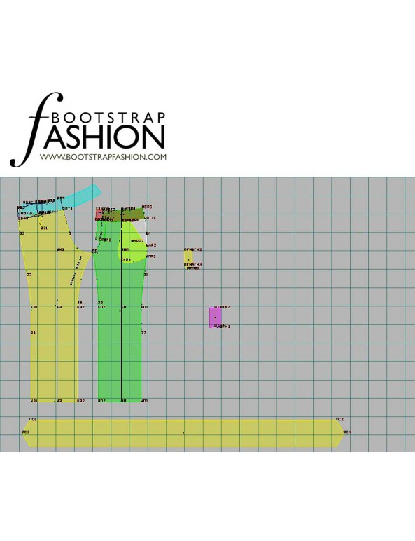 Fashion Designer Sewing Patterns - Straight Leg Tie Waistband Trousers