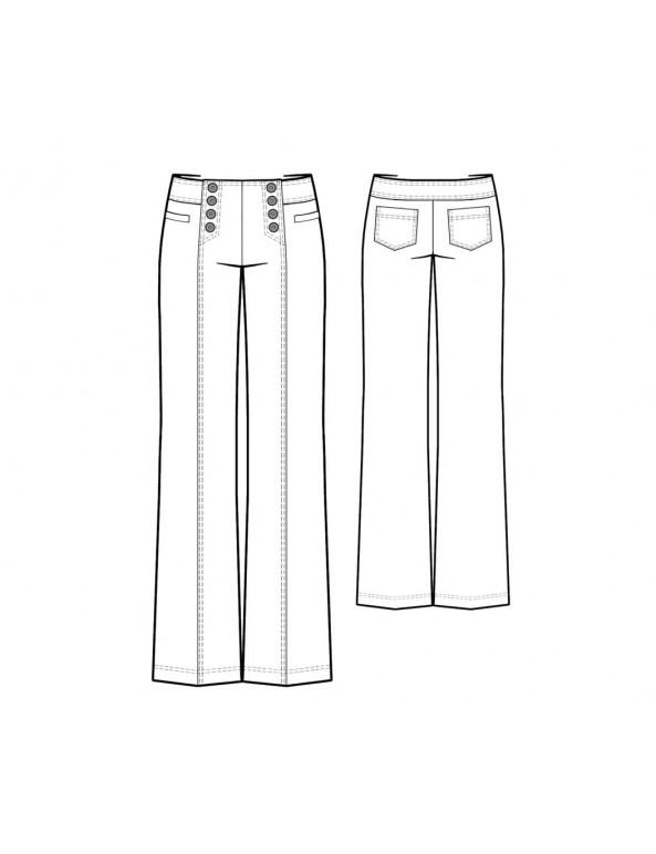 Fashion Designer Sewing Patterns - Sailor Pants