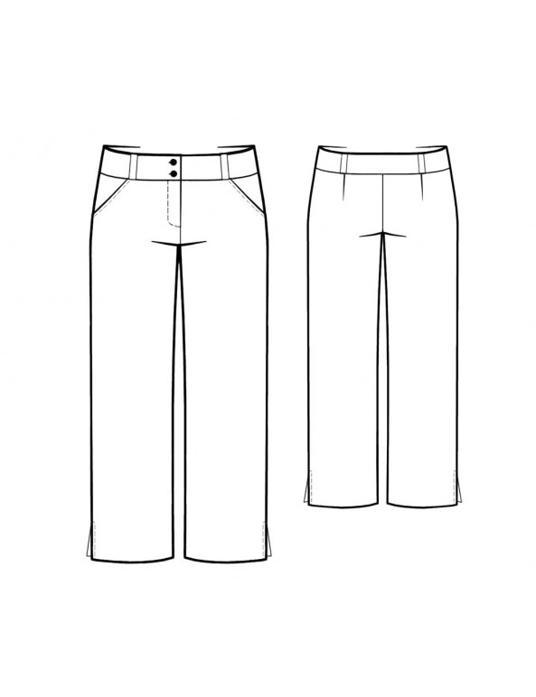 Fashion Designer Sewing Patterns - Cropped Pants