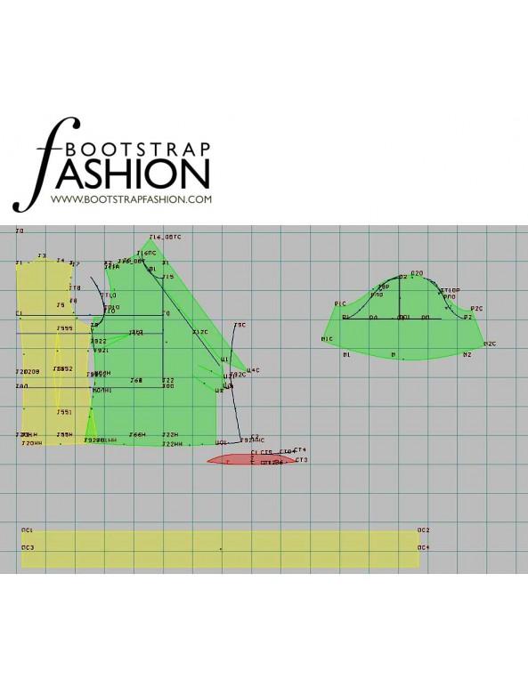 Fashion Designer Sewing Patterns - Short-Sleeved Wrap Blouse
