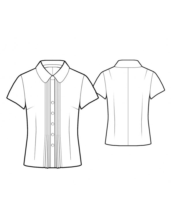 Fashion Designer Sewing Patterns - Fitted Blouse with Peter Pan Collar