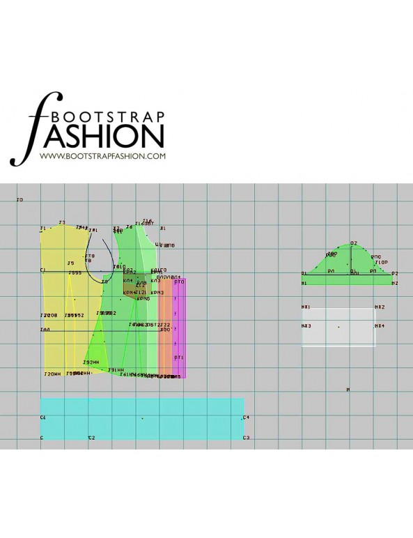 Fashion Designer Sewing Patterns - Camp Shirt with Tied Neck
